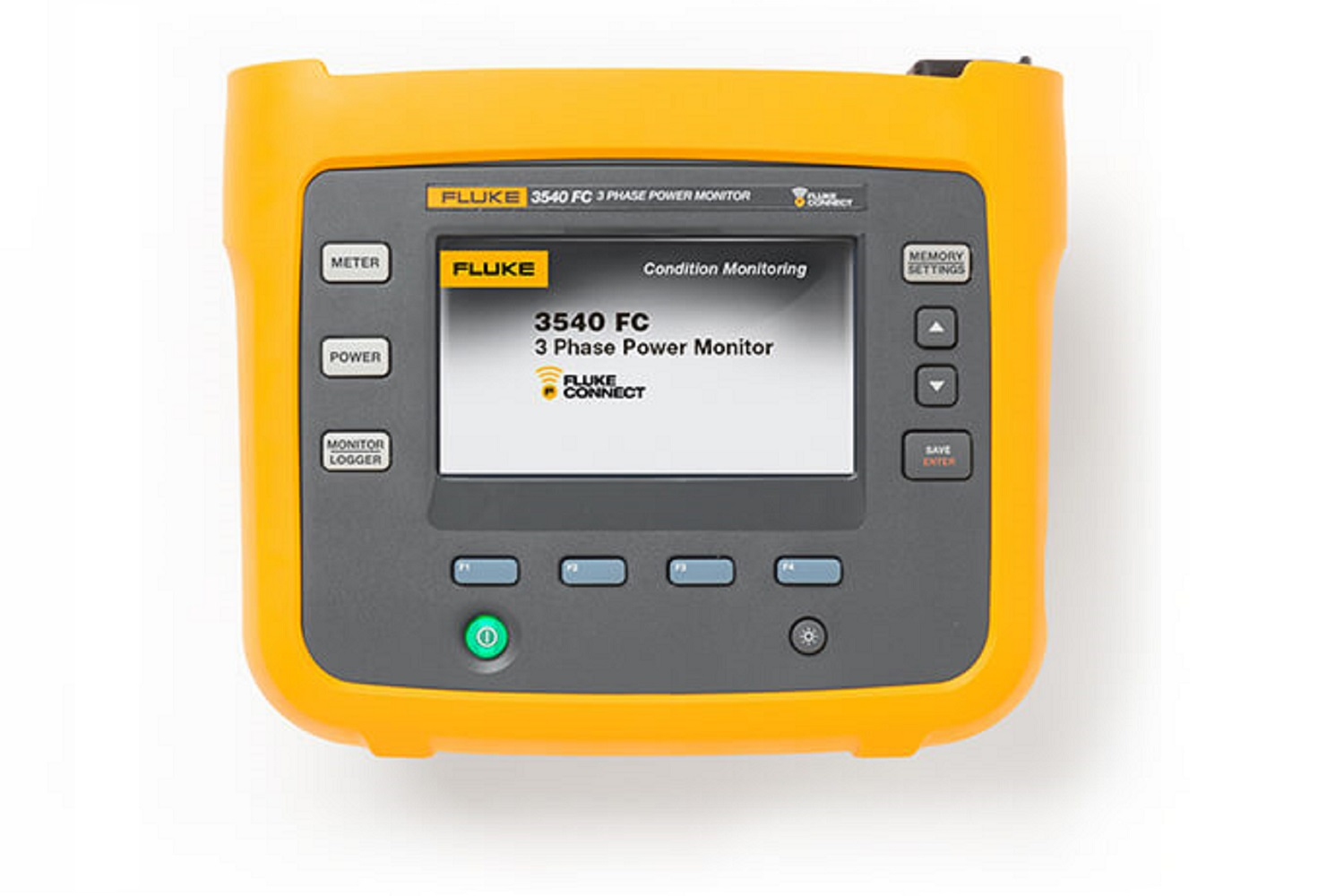 A clickable image of the Fluke 3540 FC Three-Phase Power Monitor. Leads to the product page.