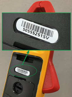 Product serial numbers appear on back of product