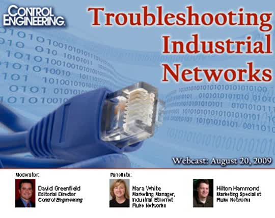Fluke: Troubleshooting Industrial Networks with Fluke ScopeMeter and FNET tools Webcast