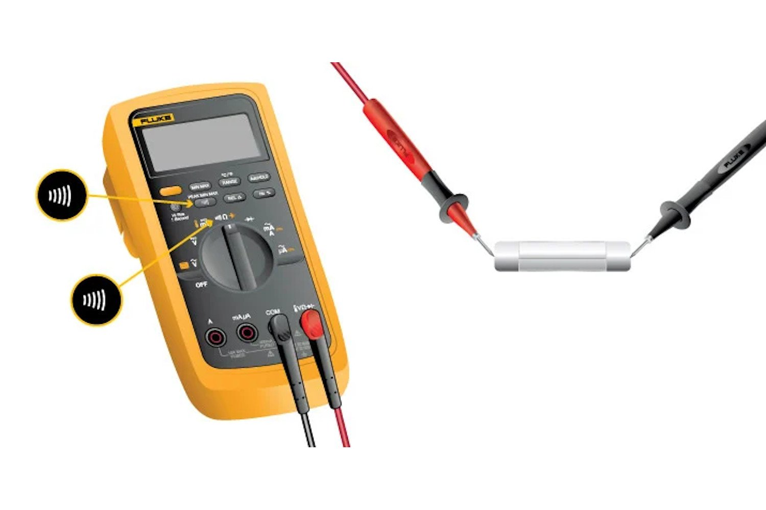 Steps for measuring continuity with a digital multimeter