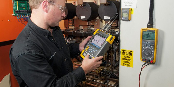 Chief Engineer uses electrical test equipment to increase product quality