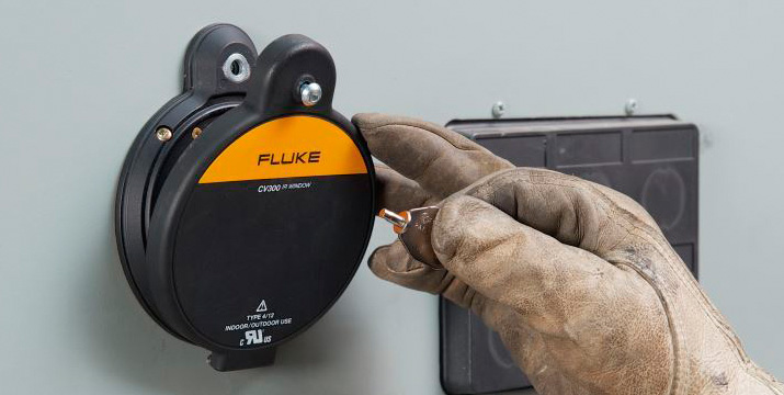 Reduce arc flash risk with Fluke certified infrared windows