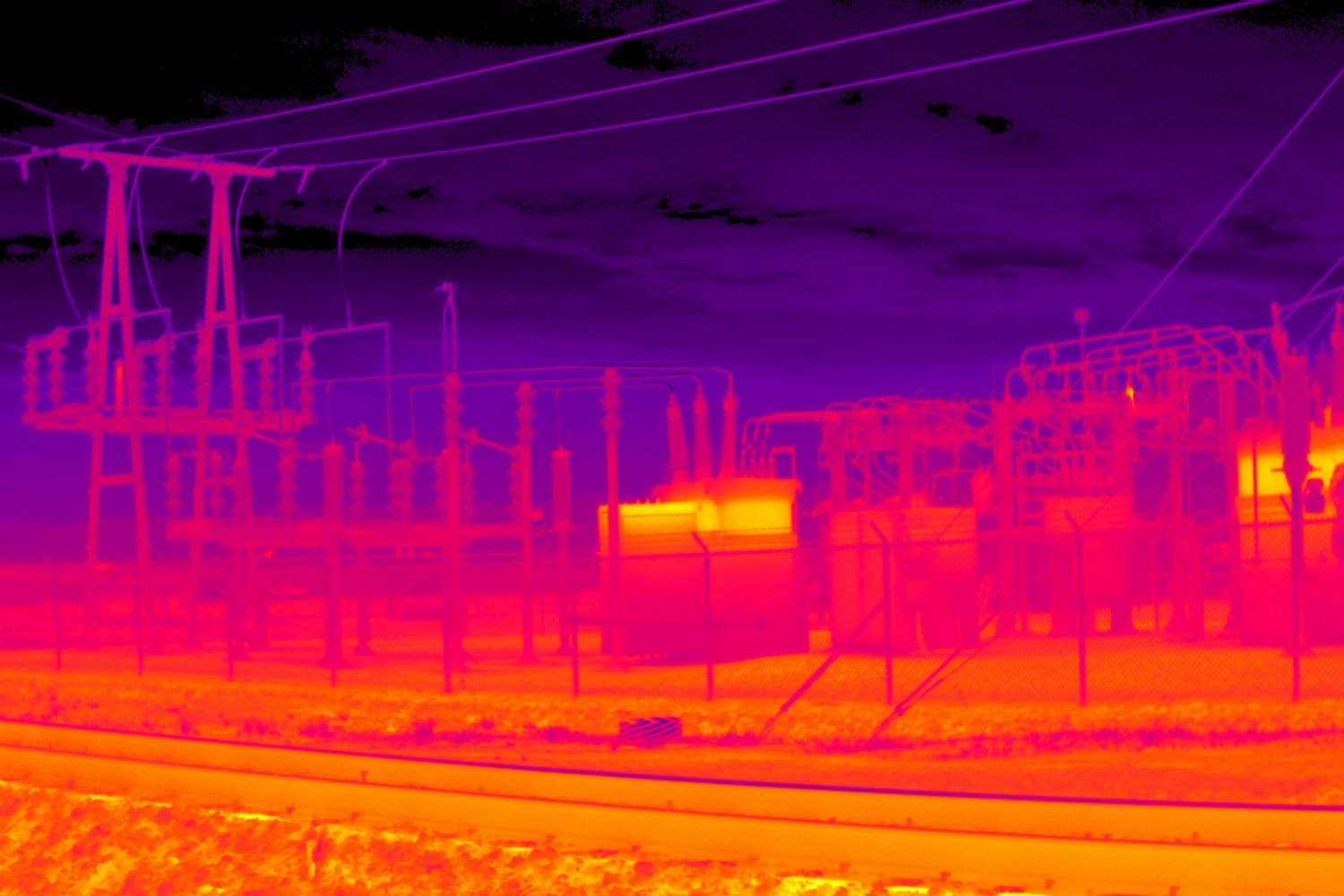 Infrared image taken with a thermal camera