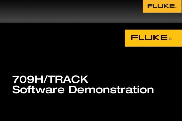 709H / TRACK software demonstration