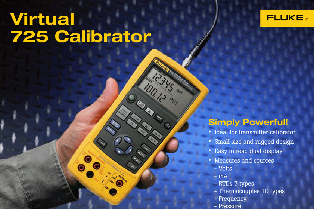 Fluke 725 Multifunction Process Calibrator Virtual demo