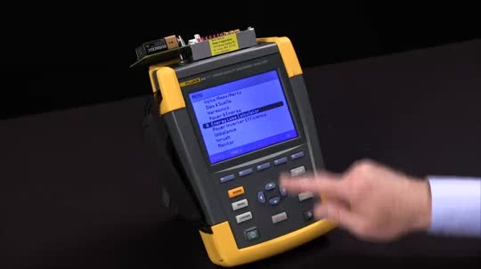 How To Configure The Energy Loss Calculator Function On The Fluke 430 Series