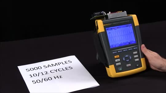 Logging Capture and Sample Rate on aFluke 435 II