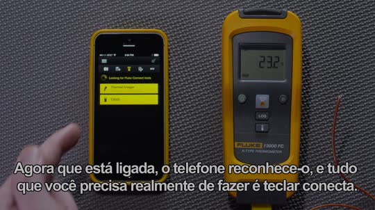 Connecting the T3000 FC with the Fluke Connect™ app