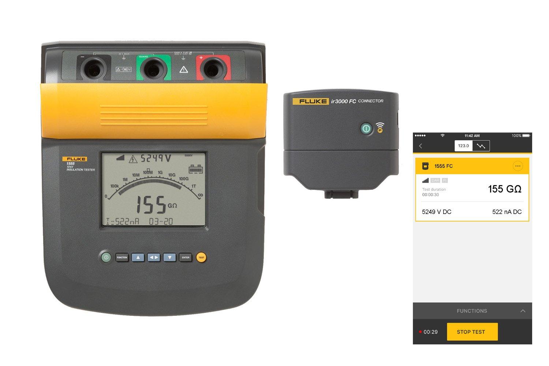 Fluke 1555 FC 10 KV Insulation Tester | Fluke
