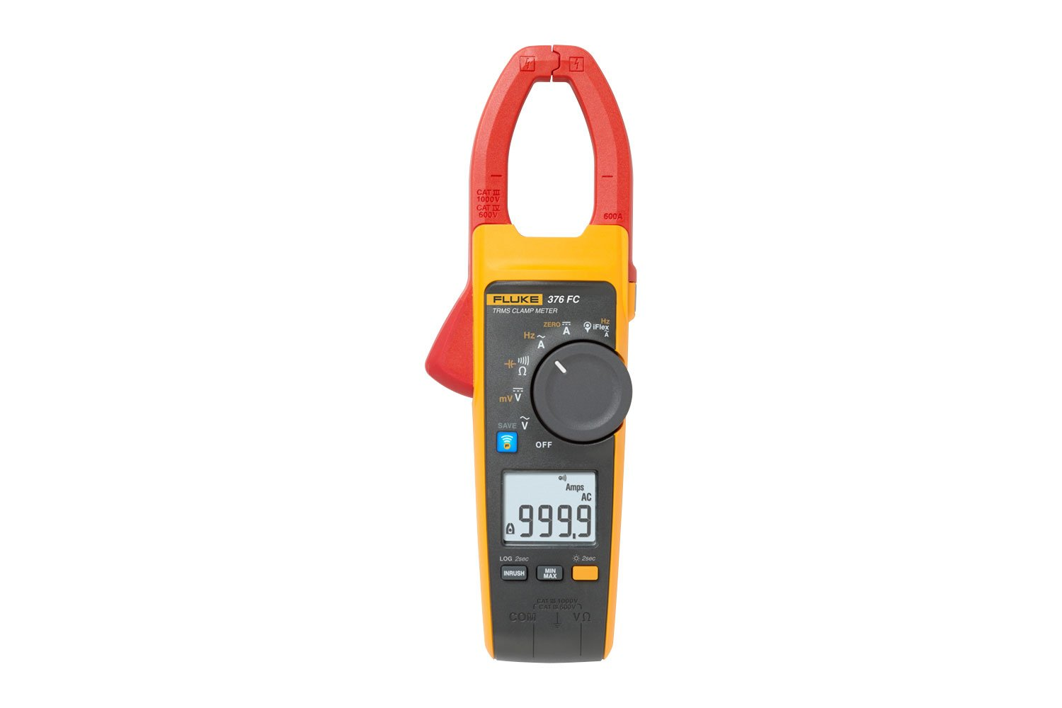 Fluke 376 FC True-rms AC/DC Clamp Meter with iFlex®