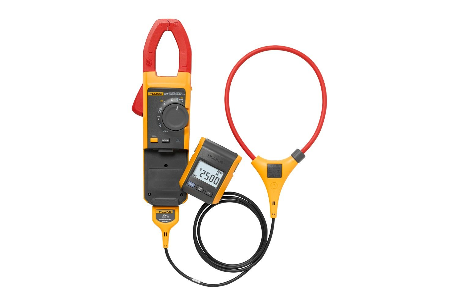 Fluke 381 Remote Display True-rms AC/DC Clamp Meter with iFlex®
