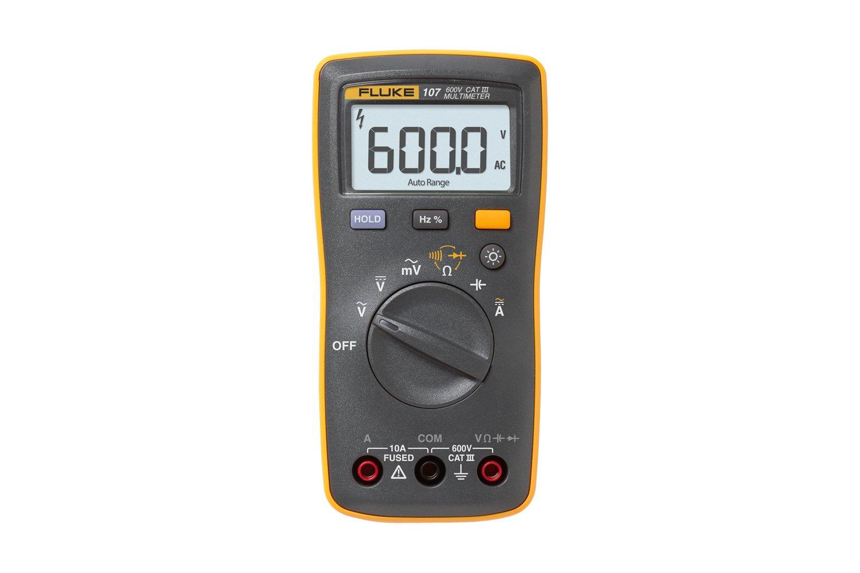 Fluke 107 Palm Sized Digital Multimeter Multi Meter Circuit Short Detector