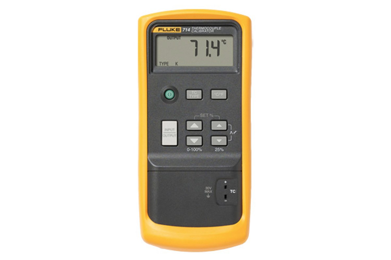 Amazon. Com: fluke 714 lcd thermocouple calibrator, 75mv voltage.