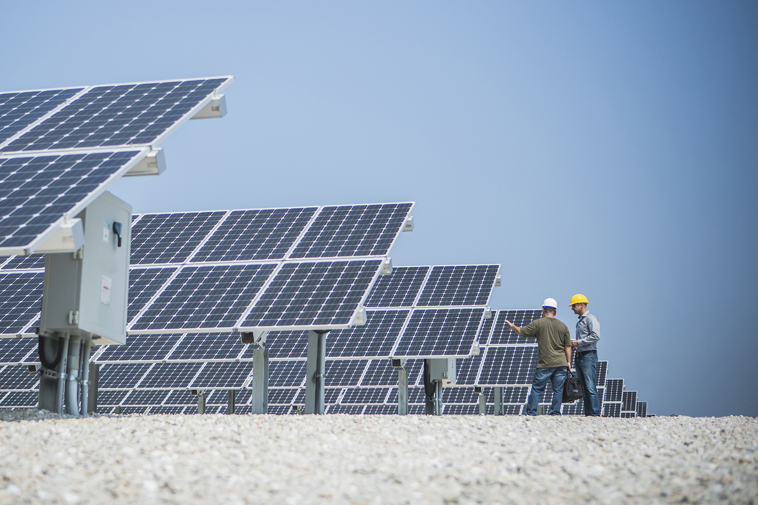 Solar energy technicians plan for maintenance