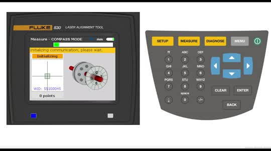 Fluke 830 Alignment Tool Measure Procedure