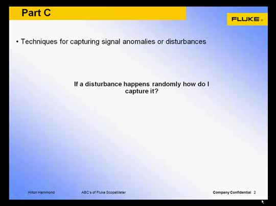 Portable Oscilloscope Webinar Series Part 3: Tips for Capturing Waveform Anomalies