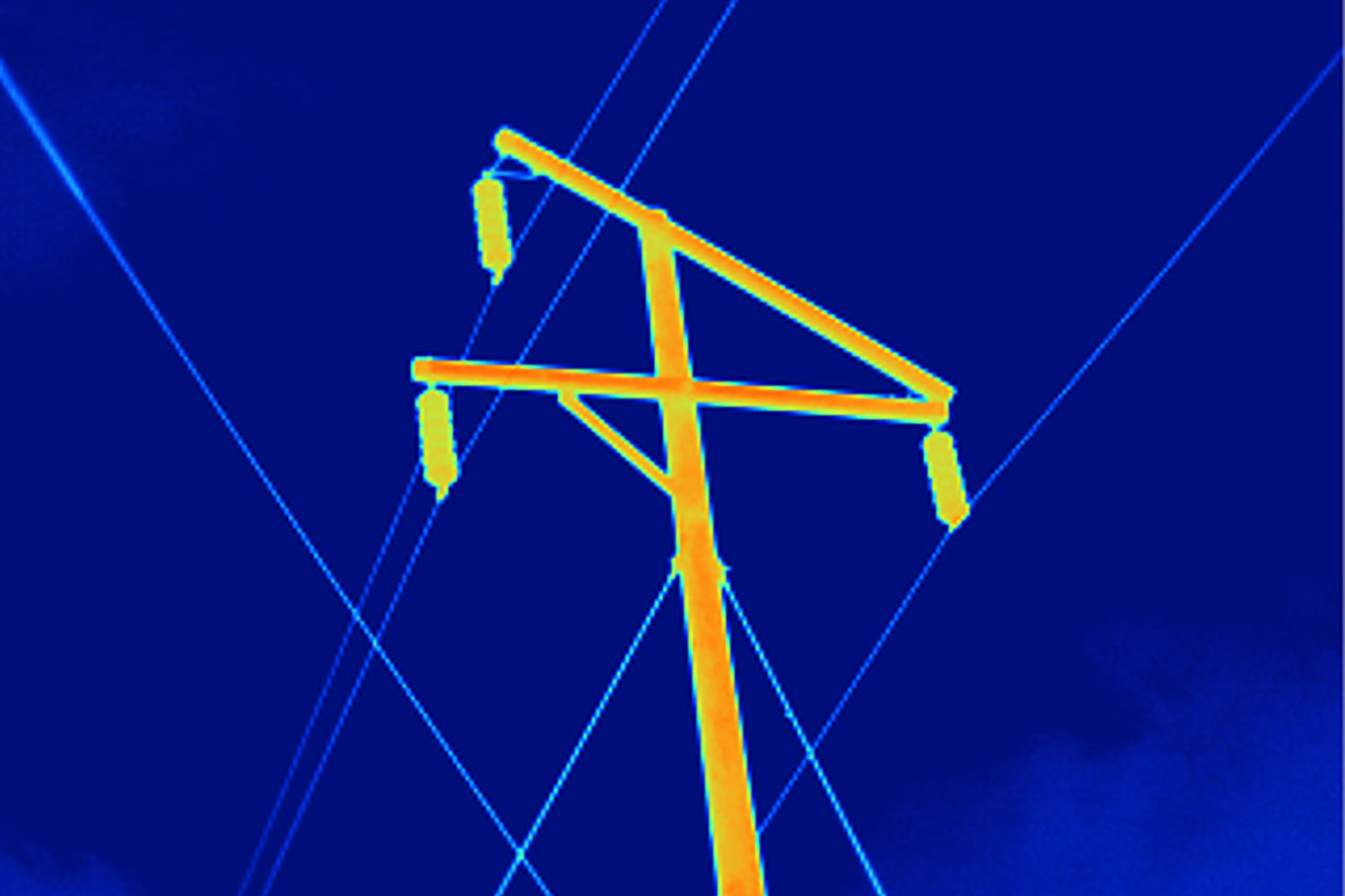 Power line pole taken with standard lens on a TiX560
