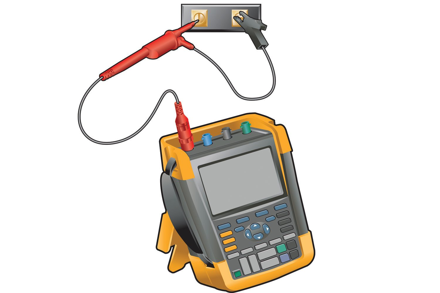 Measure the dc bus voltage across the plus and minus terminals