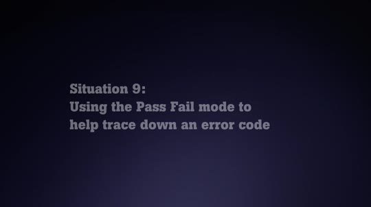 Fluke ScopeMeter Webinar Series Part 9: Using the Pass Fail mode to help trace down an error code