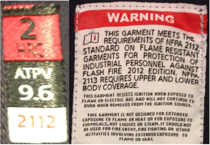 Garment is mislabeled. It is not arc-rated