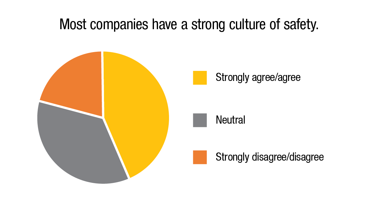 Most companies have a strong culture of safety