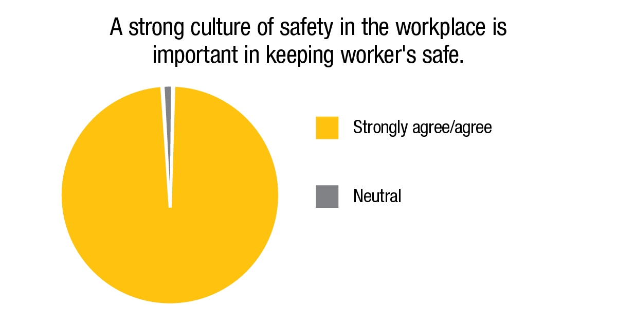 A strong culture of safety in the workplace is important in keeping workers safe