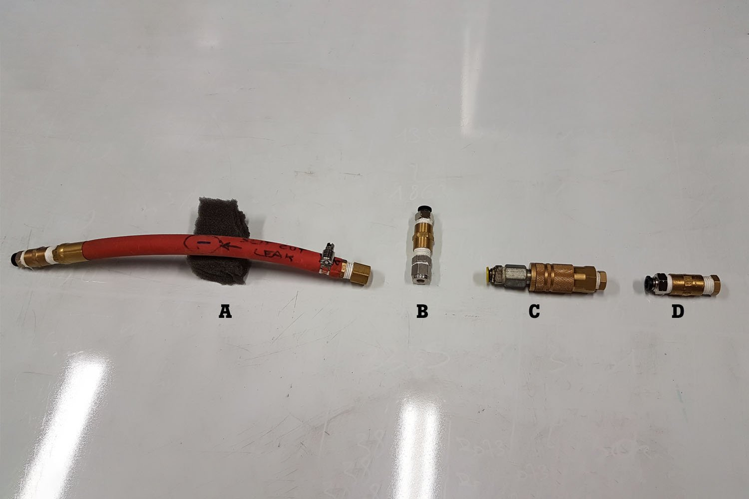 Different types of compressed air leaks