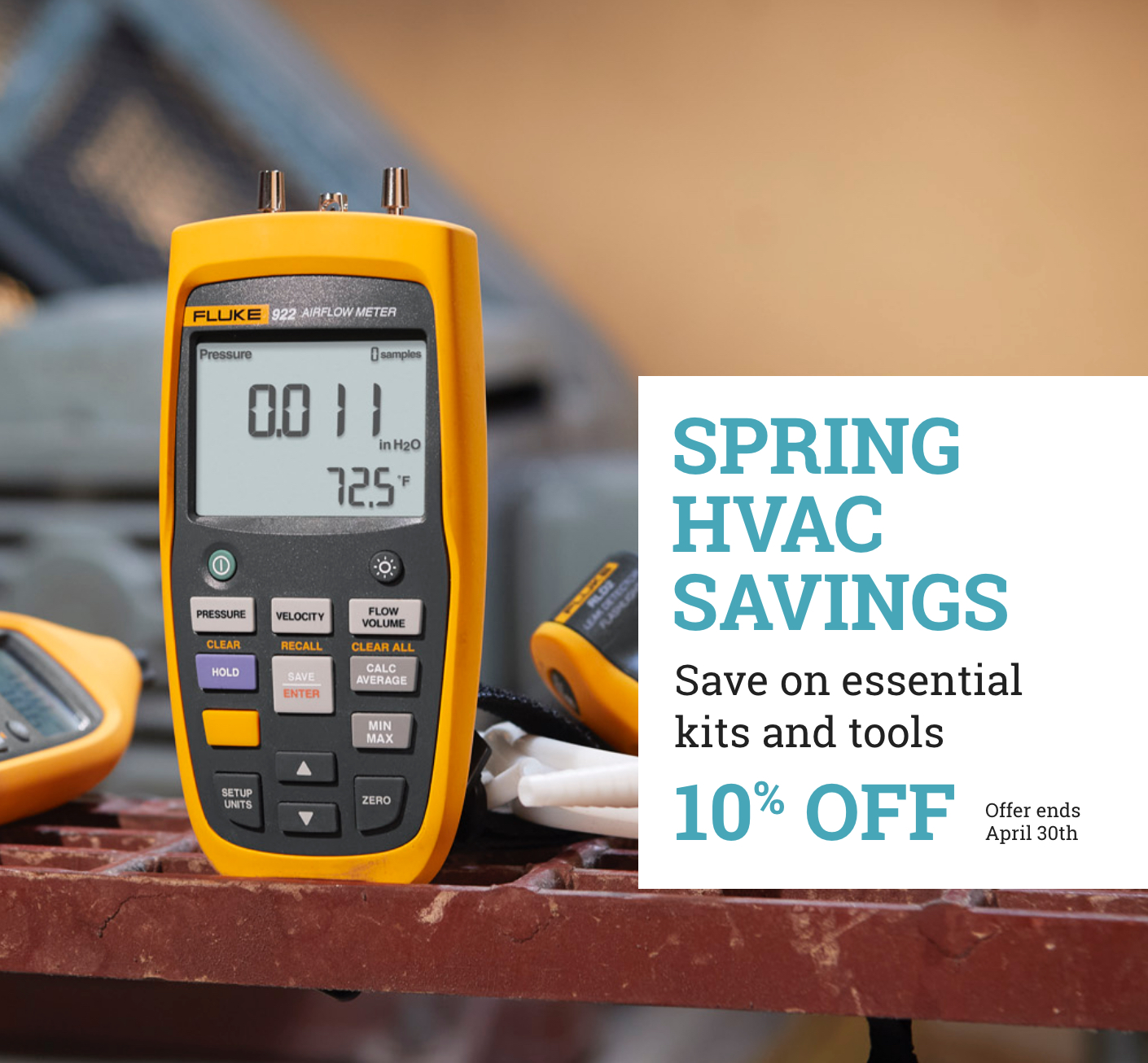 Fluke 10% off Spring HVAC Saving April 2021