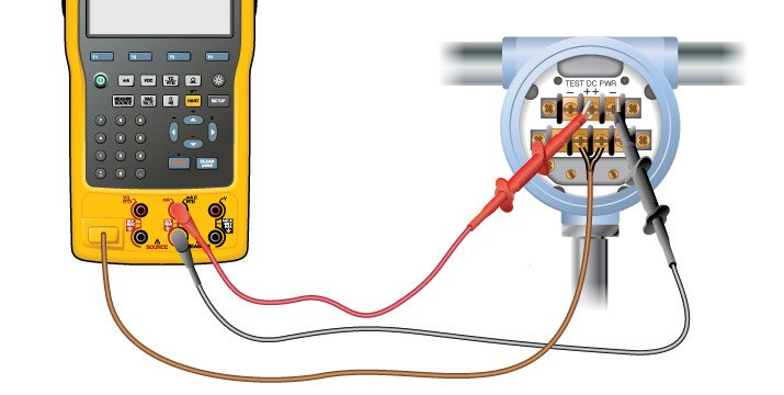 An example of calibrating a two-wire thermocouple transmitter with a Fluke 750 series Documenting Process Calibrator.