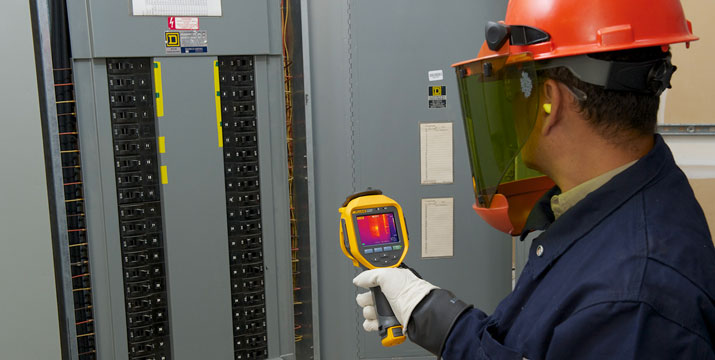 Inspecting an electrical panel with an infrared camera can help identify potential problems.