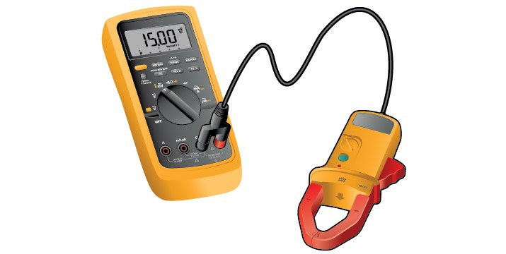 How to measure current with a clamp accessory
