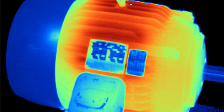 Using thermal imaging to troubleshoot motors and drives