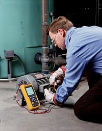 Using a Fluke 43B Single Phase Power Quality Analyzer to evaluate a mechanical system