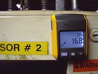 The Fluke 381 clamp meter's remote display