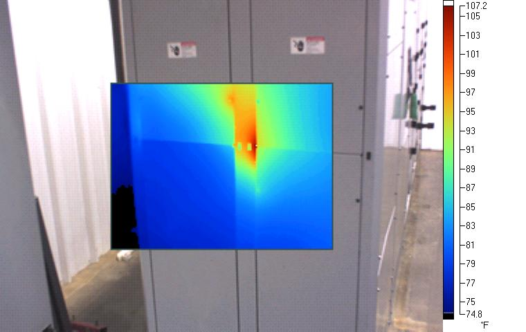 Thermal imaging scan showing abnormal heating.