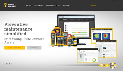 Screen capture of connect.fluke.us