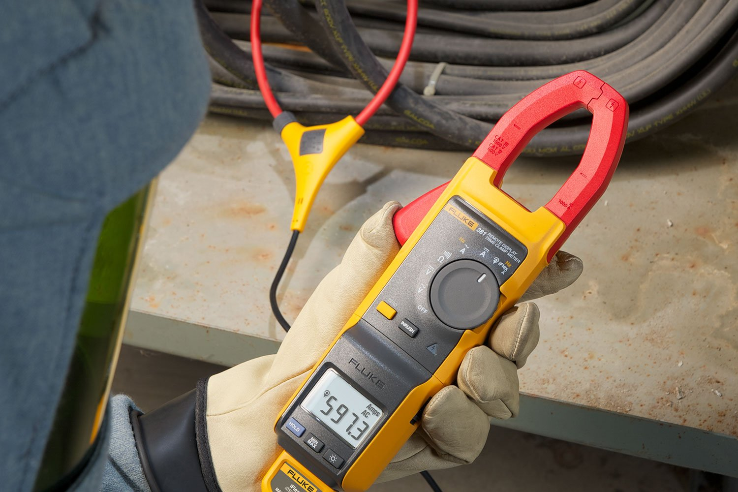 Double Clamp Meter Fluke 381 True Rms T2000 Ac Wiring