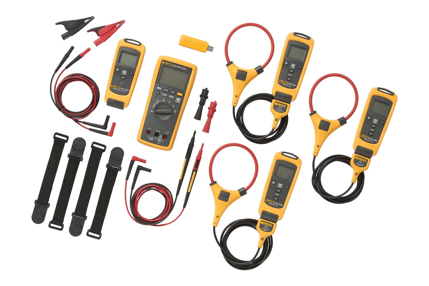 Fluke Cnx 3000 Wireless Multimeter Laptop Tests Checking Voltage And Short Circuits