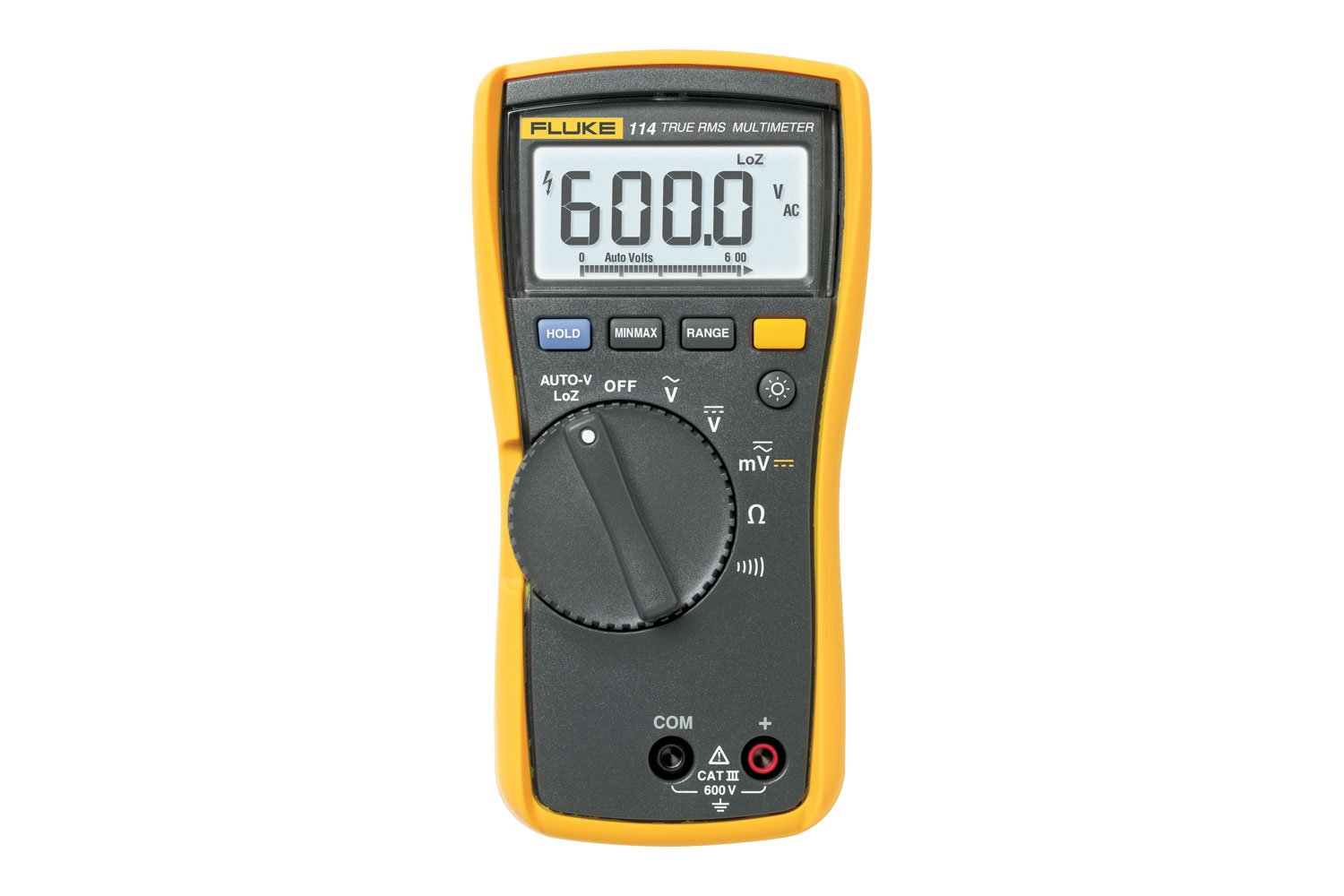 Fluke 114 True Rms Electrical Multimeter Cat Iii 600 V When The Switch Is Open Voltmeter Reads 60 And It