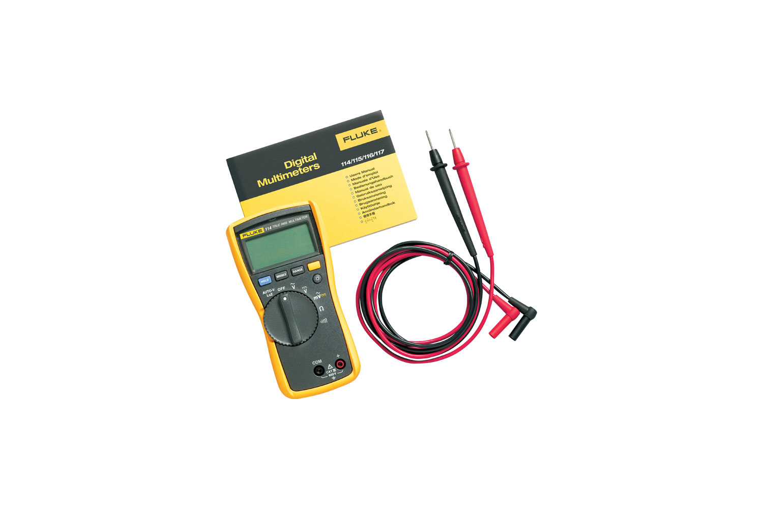 Fluke 115 True Rms Digital Multimeter D Box Fuse 30 Amp Square