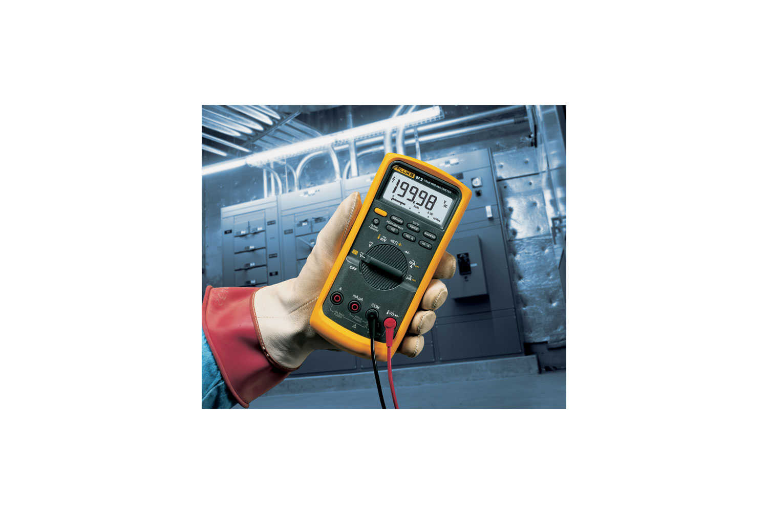 Fluke 87v Industrial Multimeter Example Of A Typical Lcr Meter As Used In Laboratories And Production