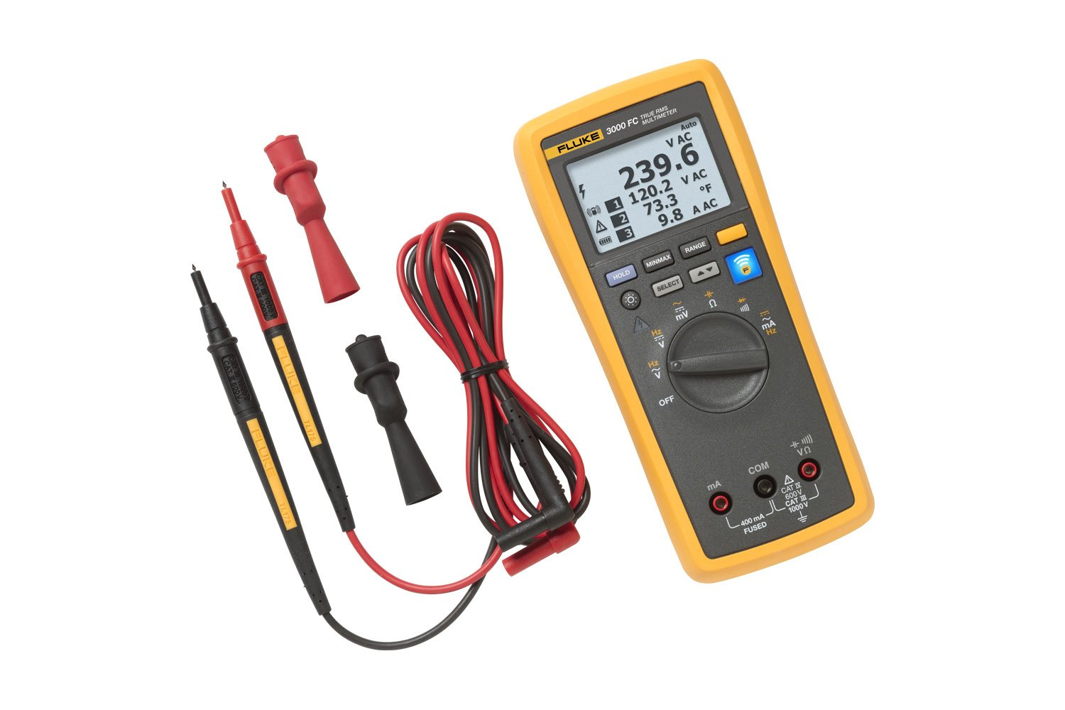 Fluke 3000 Fc Series Wireless Multimeter Circuit Tester Ac Dc Voltage Electric Testers Auto Home Ebay