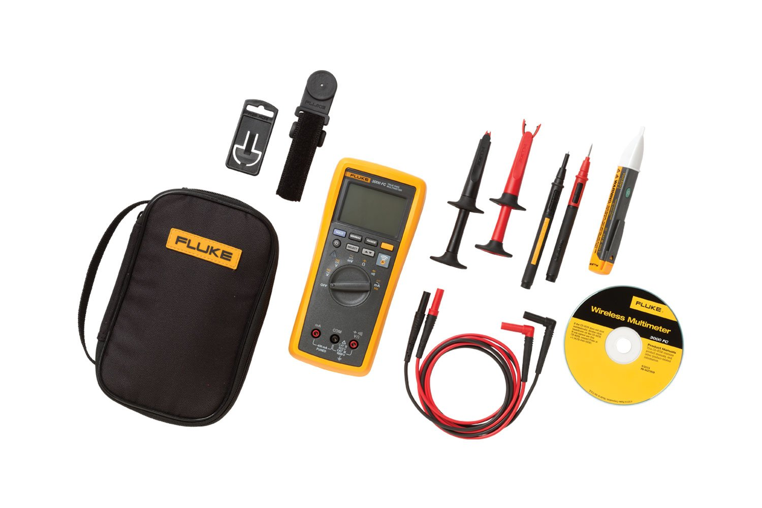 Fluke 3000 Fc 1ac2 Combo Kit Laptop Multimeter Tests Checking Voltage And Short Circuits