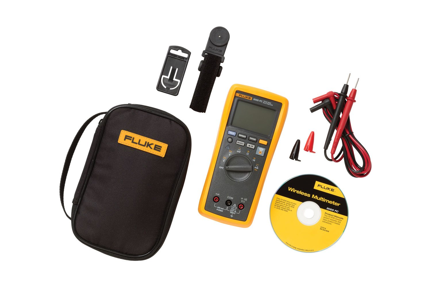 Fluke 3000 Fc Tpak Combo Kit Laptop Multimeter Tests Checking Voltage And Short Circuits