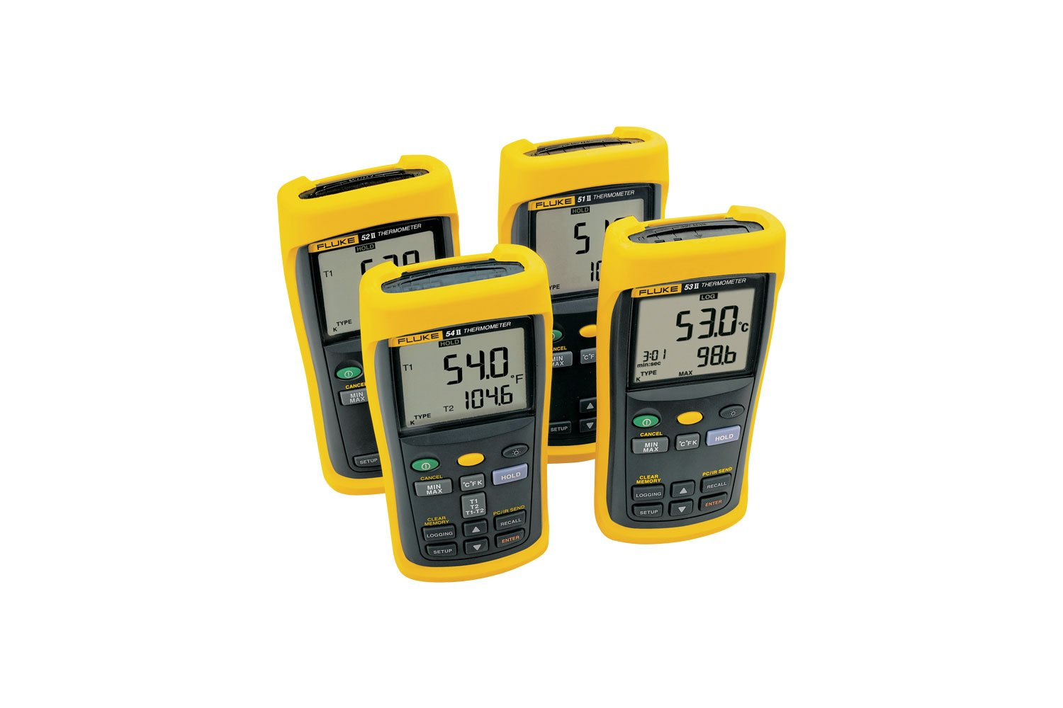 Dual Probe Thermometer Fluke 52 Ii Digital 4 Wire Diagram