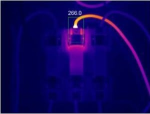 Accurate Temperature Displayed on a Focused Thermal Image of an Electrical Component