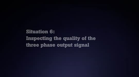 Fluke 190 Series II: Inspecting the Quality of the Three Phase Output Signal