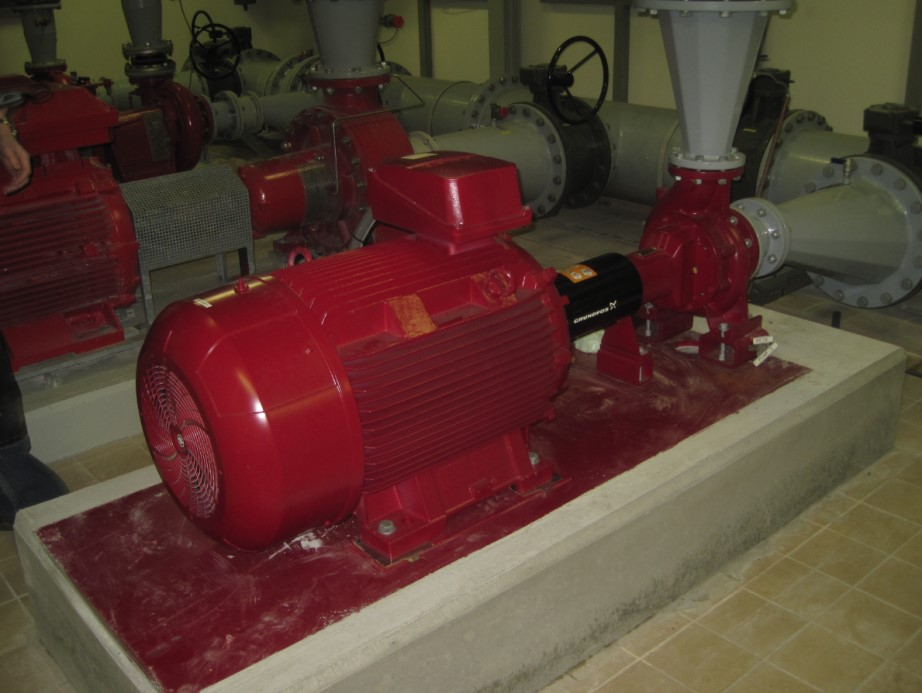 Water pumps working in parallel