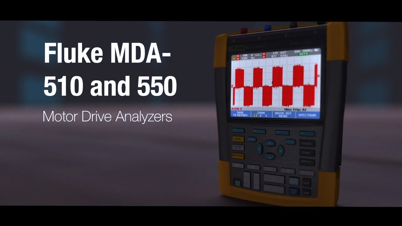 Fluke Training Library Demos Videos App Notes Measurement Circuits 73 In Threephase Mda 500 Series Motor Drive Analyzers Overview Video