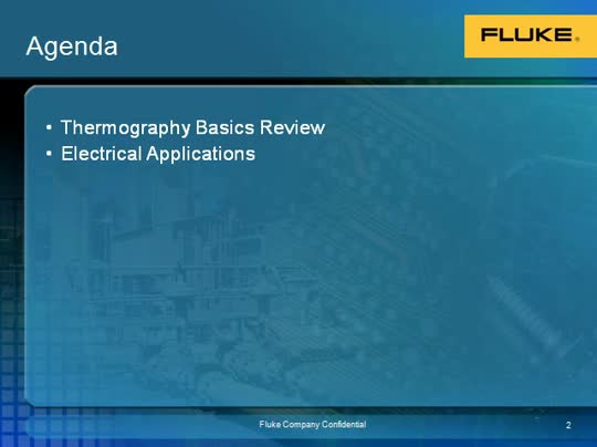Webinar: Fluke Thermal Imaging -  Electrical Applications